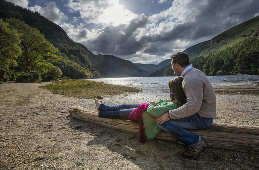 walking, realzing, Glendalough, Ireland