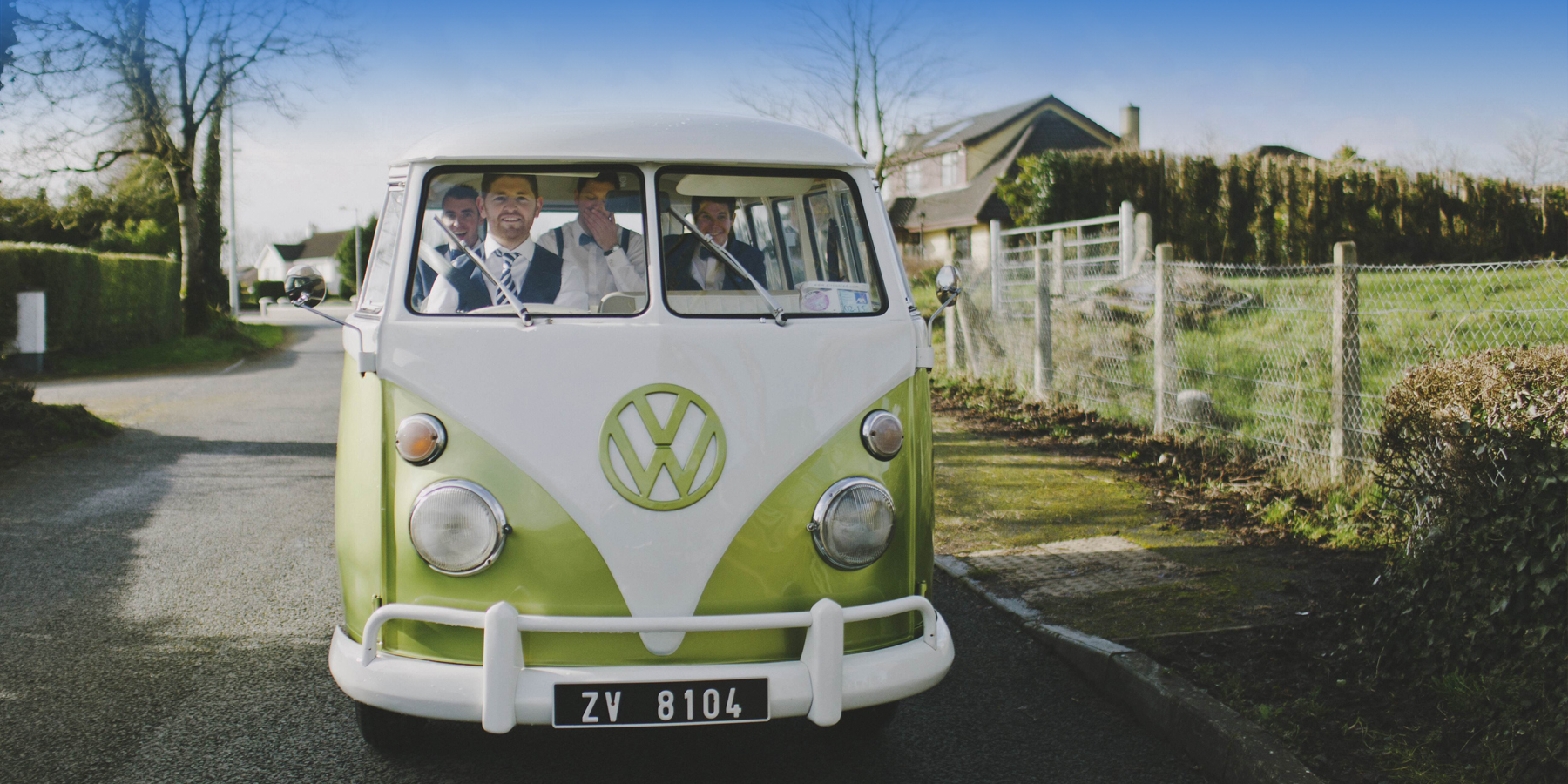 Vintage Volkswagen Wedding Campervan Splitty