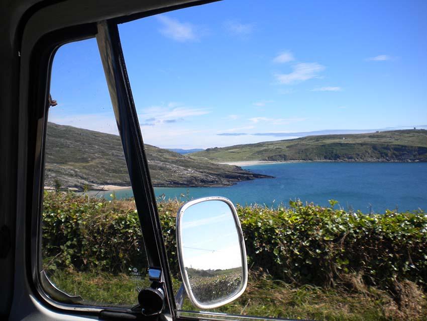 VW Camper Vans Coastal scene
