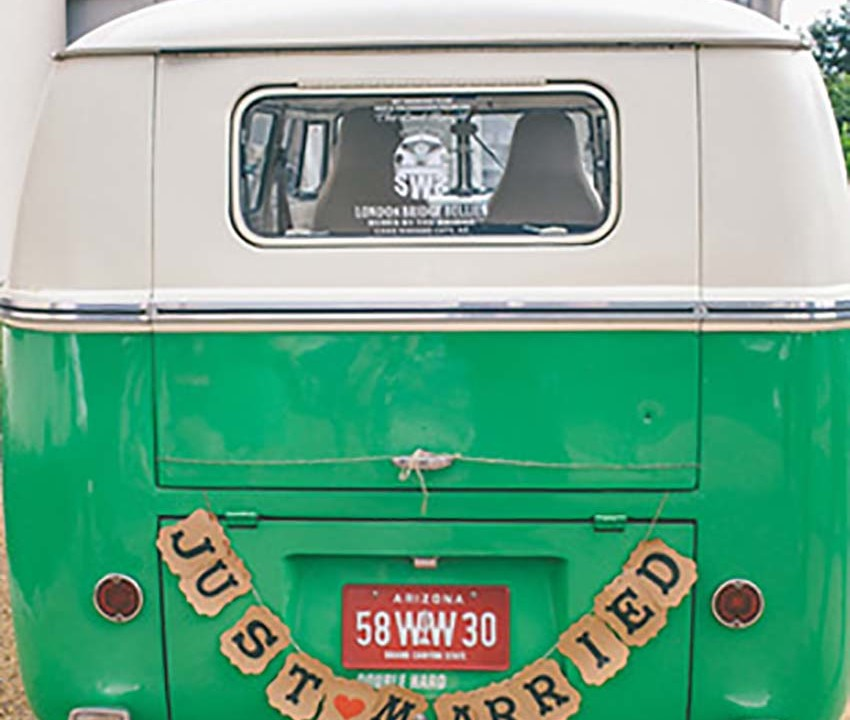 Volkswagen Vintage Wedding Van for hire, lazydays, ireland