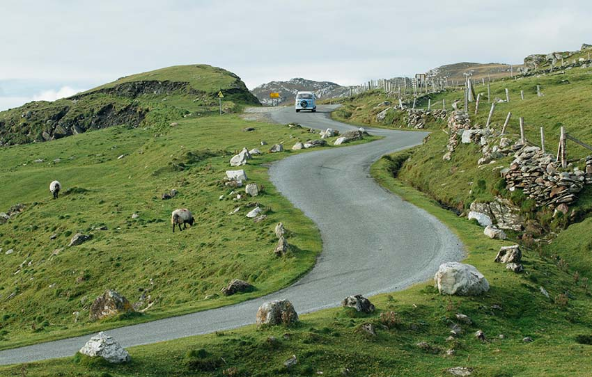 Winding Road, Ireland Camper Vans
