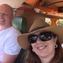 Linda & Stewart on tour in Sonny