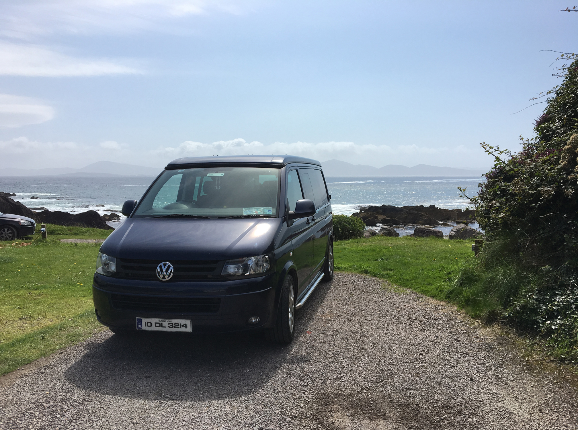 Big Blue on a Honeymoon Road Trip at Wave Crest in Kerry