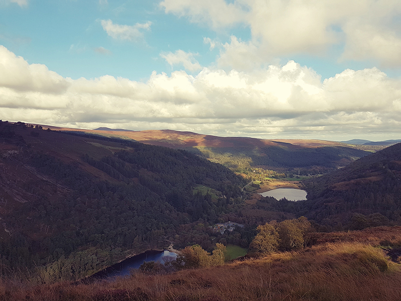 View over Glendalough from the Famine Village