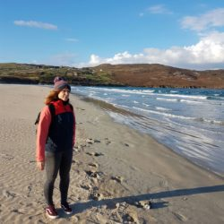 Laura rocking the autumn beach look in Ireland