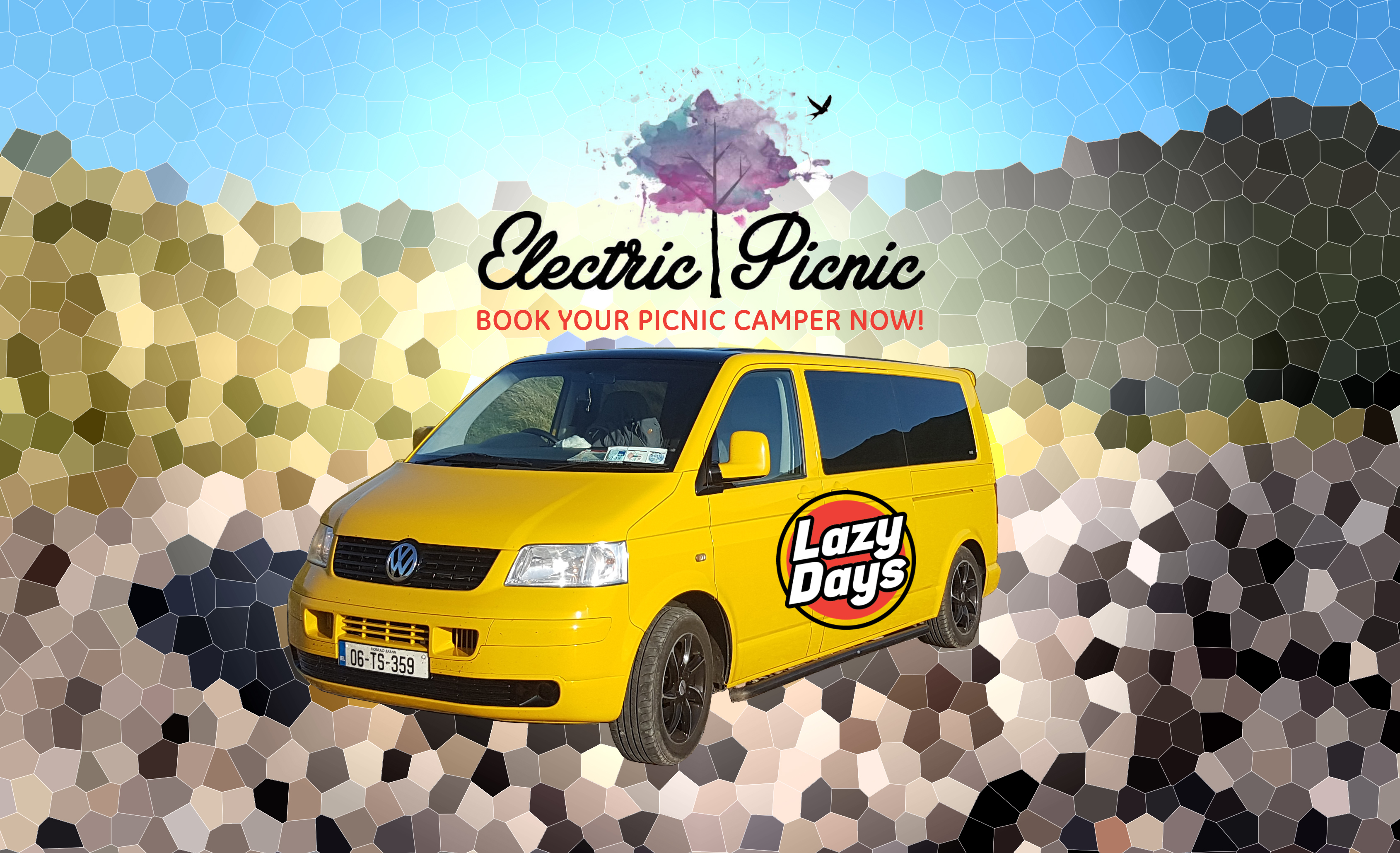 Book a Lazy Days camper for the Electric Picnic
