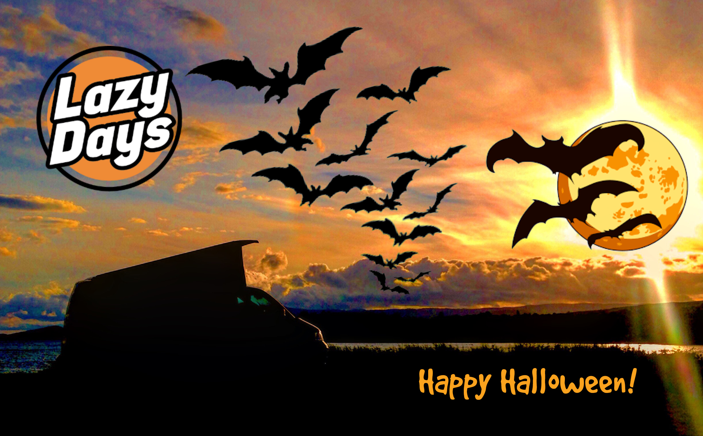 halloween fun in a lazy days camper - lazy days vw camper hire ireland