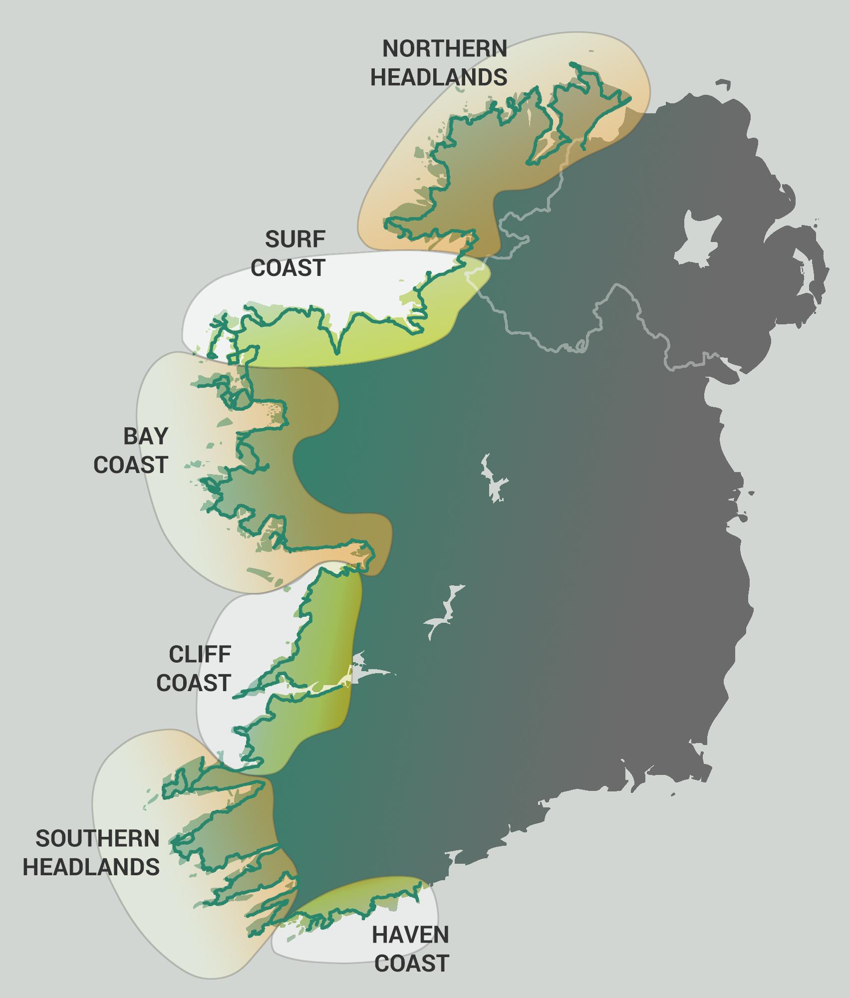 Map Of Ireland Headlands.Wild Atlantic Way Lazy Days Vw Camper Hire Ireland