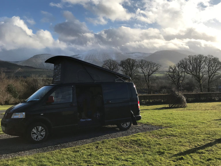 Bandit Lazy Days Campervan Glen of Aherlow Campsite Tipperary-Ireland