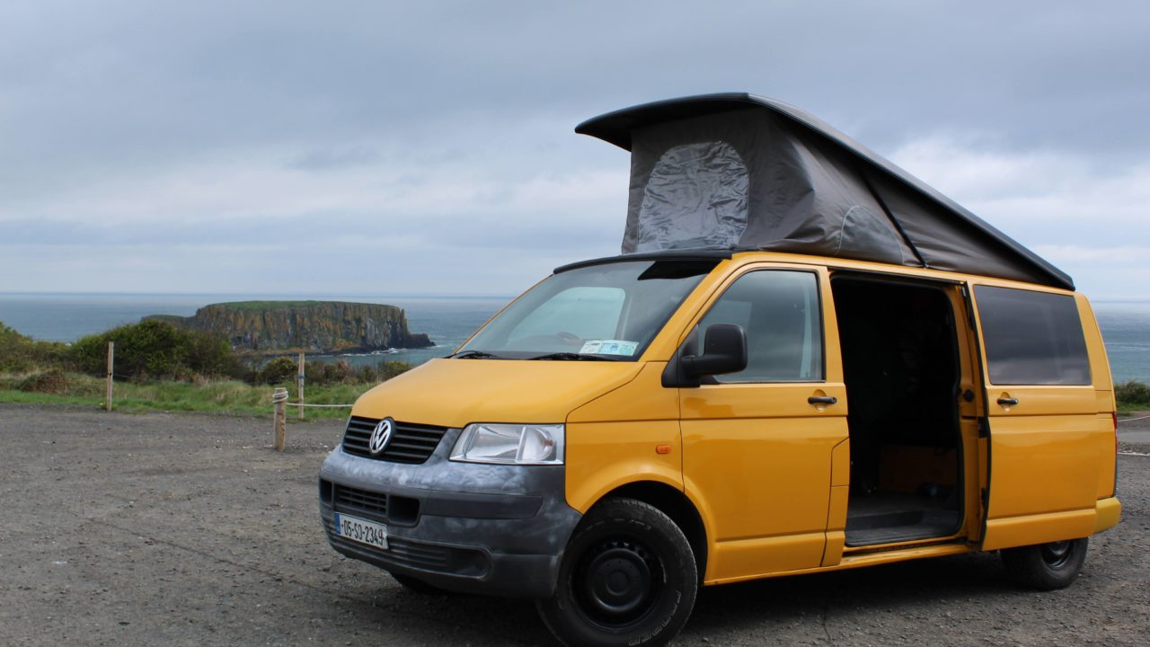 Lazy Days VW Camper Hire Sea Stacks Ireland
