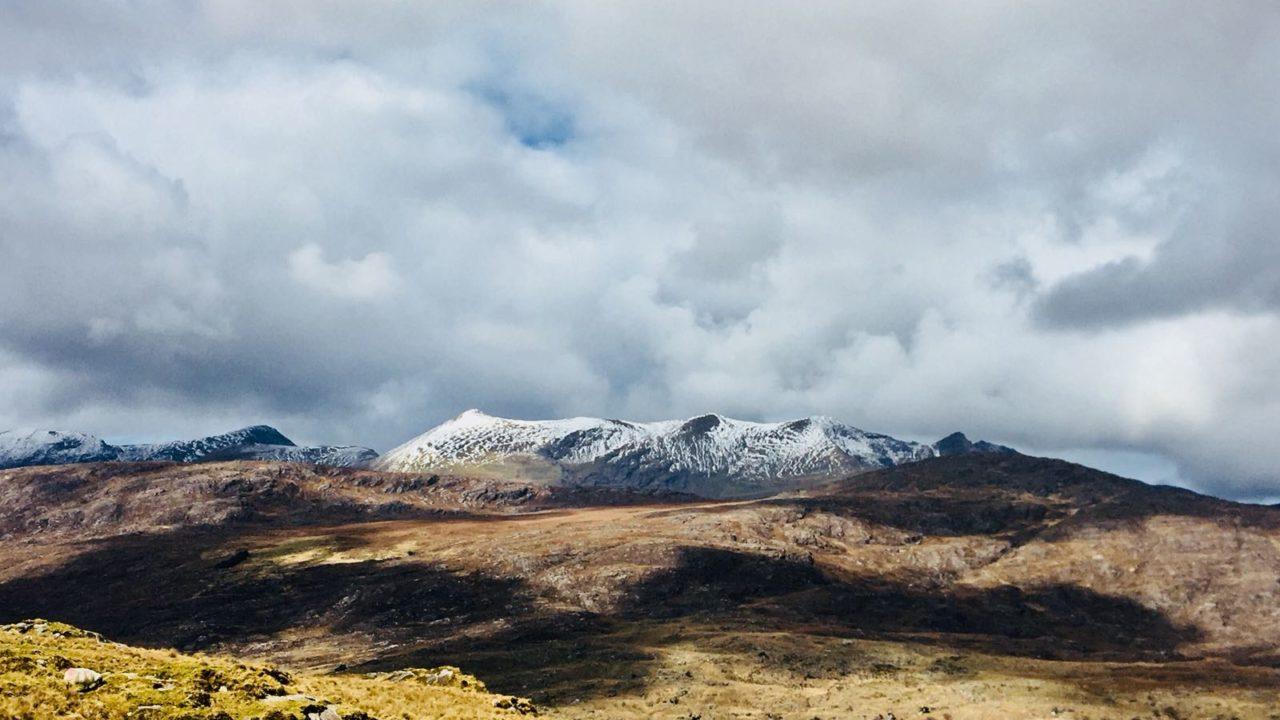 Snowy Mountain Peaks Ireland