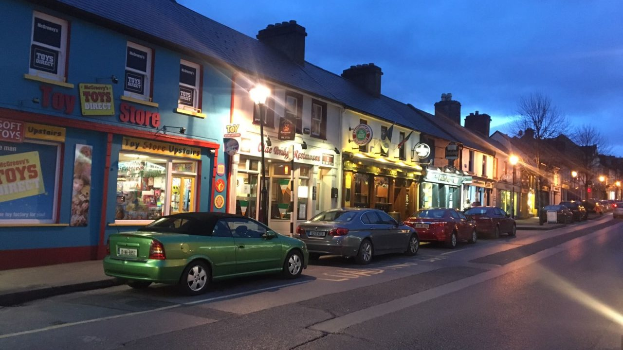 Typical Irish Town Street
