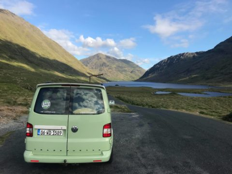 Lazy Days Campervan Doo Lough Mountain Pass Wild Atlantic Way