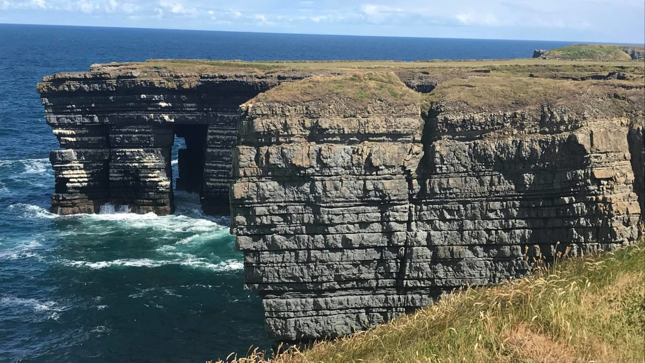 Cliff views on the Wild Atlantic Way from a Lazy Days Camper