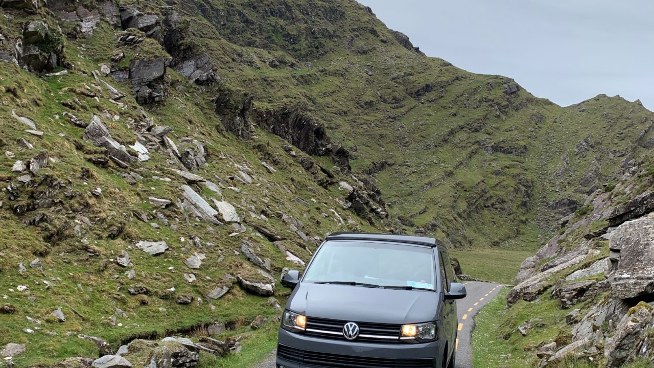 Flint Lazy Days VW Camper BALLAGHBEAMA GAP Mountain Drive Kerry Ireland
