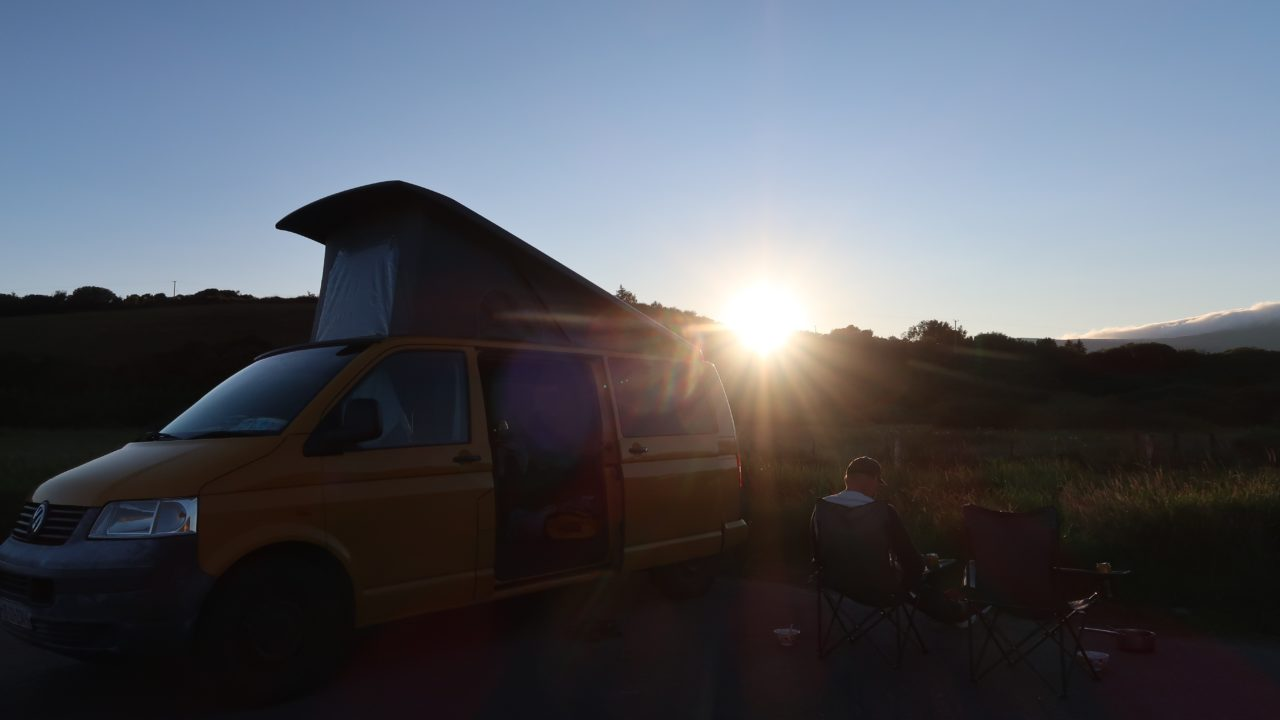 Sunset Wild Camping Lazy Days