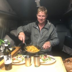 Fine Dining in a Lazy Days VW Camper