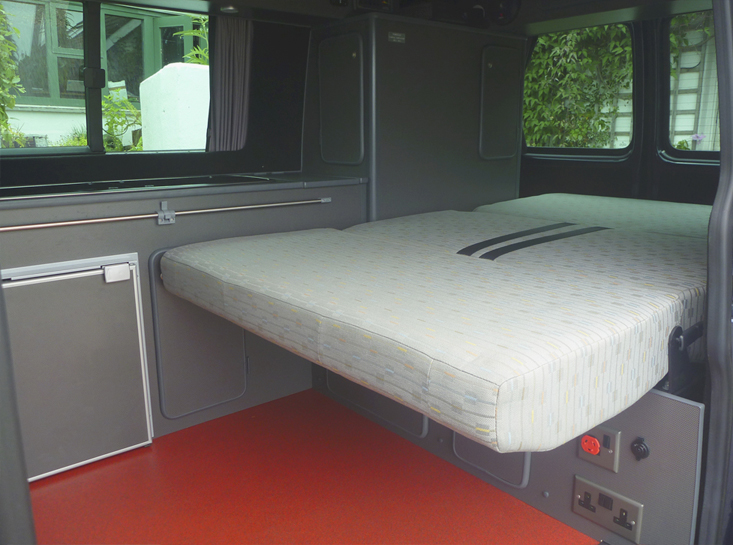 Lazy Days Camper Conversion Interior Bed