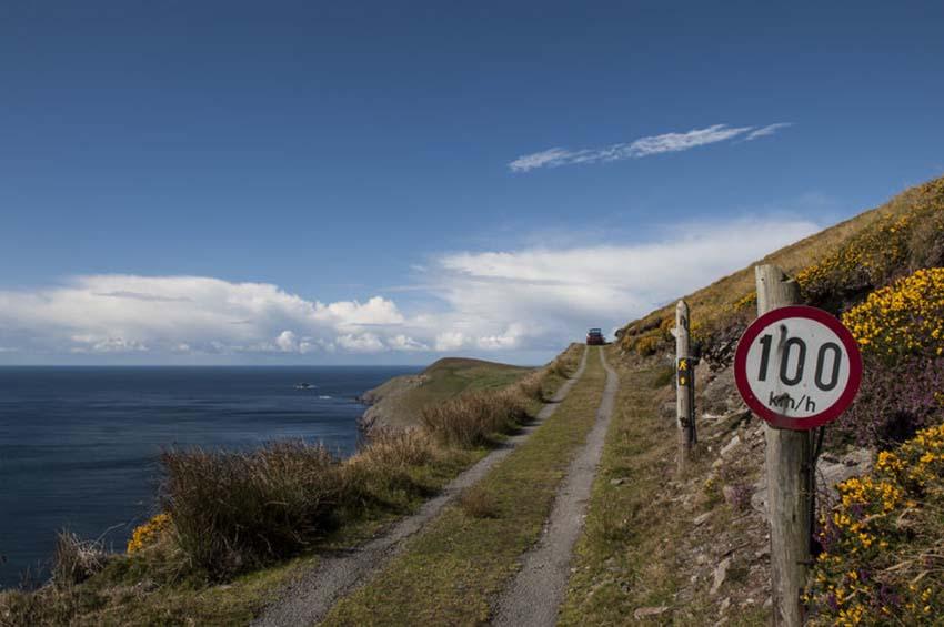 Road on coast, Ireland