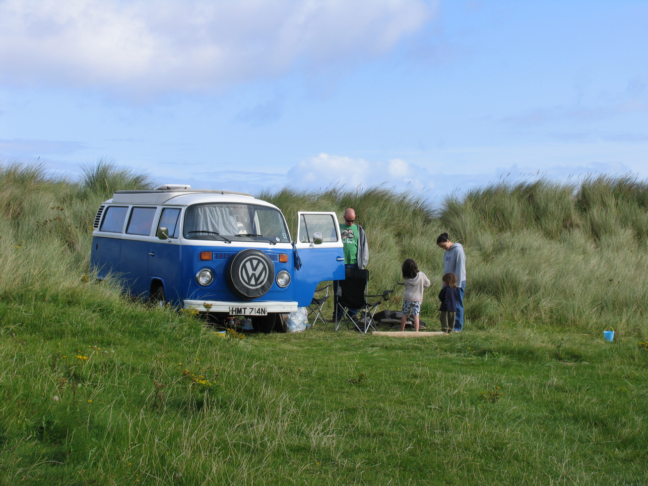 Family Camping in Rocky at Streedagh Sligo