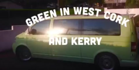 Jane & Clare on tour with Green in Cork & Kerry