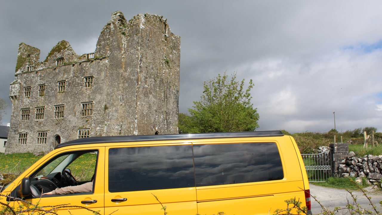 Lazy Days Campers Leamaneh Castle Burren Clare