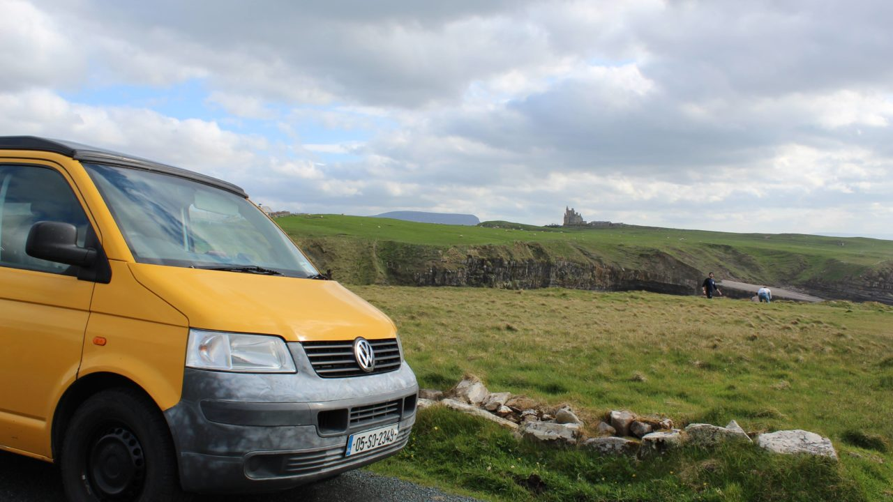 Lazy Days Campervan Classiebawn Castle Benbulben Sligo