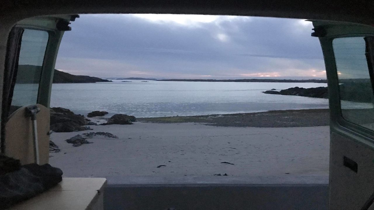 Sunset View from a Lazy Days Camper on the Wild Atlantic Way
