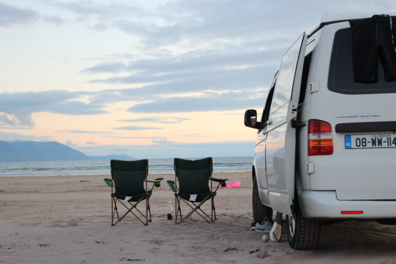 Jaws Family Camper Lazy Days Sunset Beers