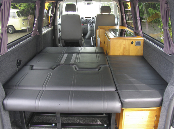Camper Conversion Interior Lower Bed