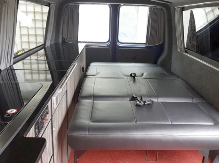 Lazy Days Campervan Conversion Downstairs Bed