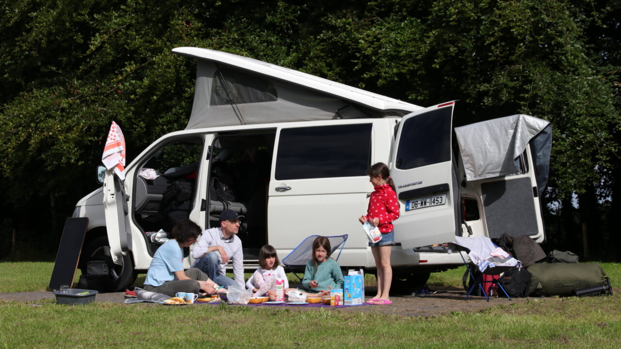 Family Camping at Lough Key
